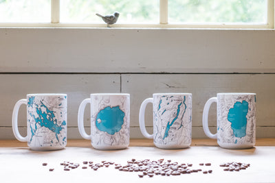 Lake Tahoe Map Mug - 15oz