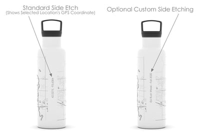 College Town Maps 21 oz Insulated Hydration Bottle