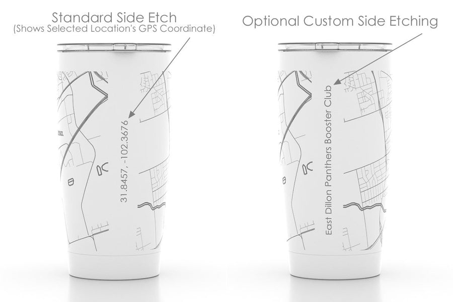 Island and Coastal Maps 20 oz Insulated Pint Tumbler