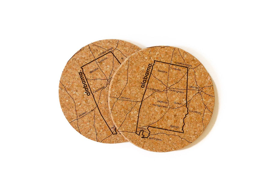 Alabama - Cork Coaster Pair