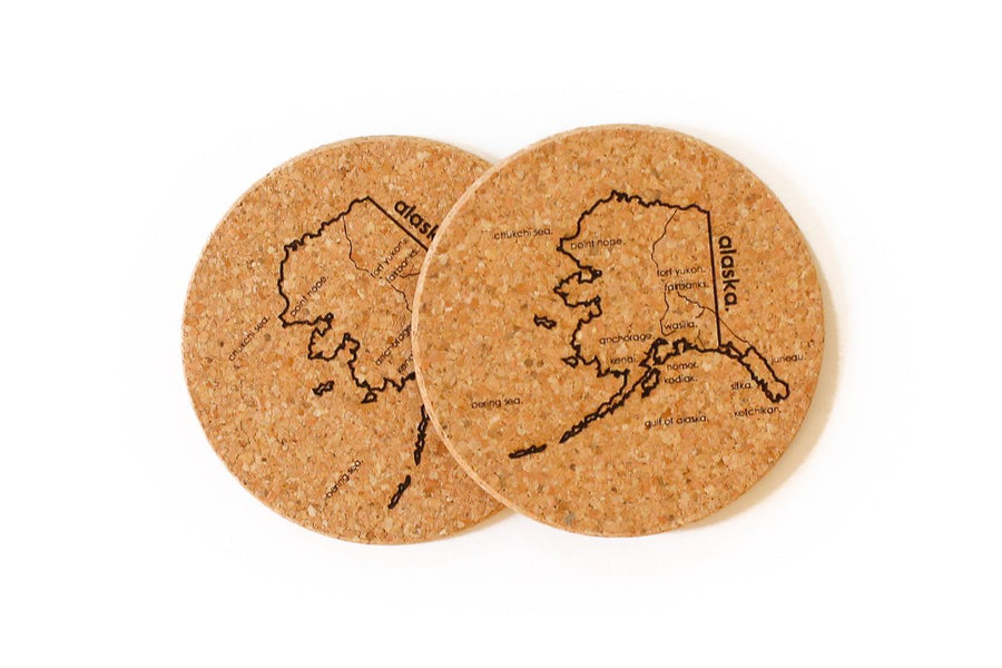 Alaska - Cork Coaster Pair