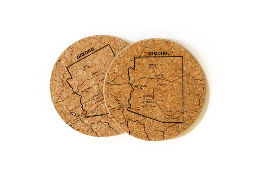 Arizona - Cork Coaster Pair