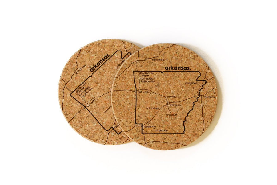 Arkansas - Cork Coaster Pair