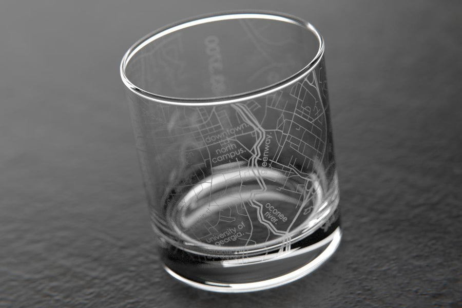 Map Engraved & Printed Drinking Glasses | Well Told