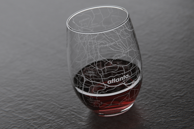 Atlanta Map Stemless Wine Glass