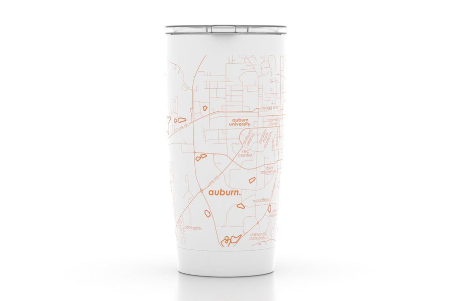 Auburn, AL - Auburn University - Color College Town 20oz Insulated Pint Tumbler