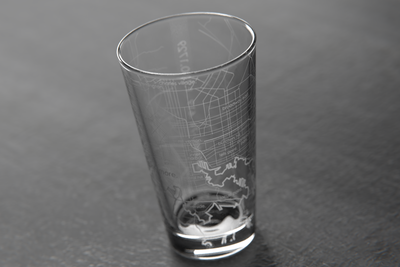 Baltimore Map Pint Glass