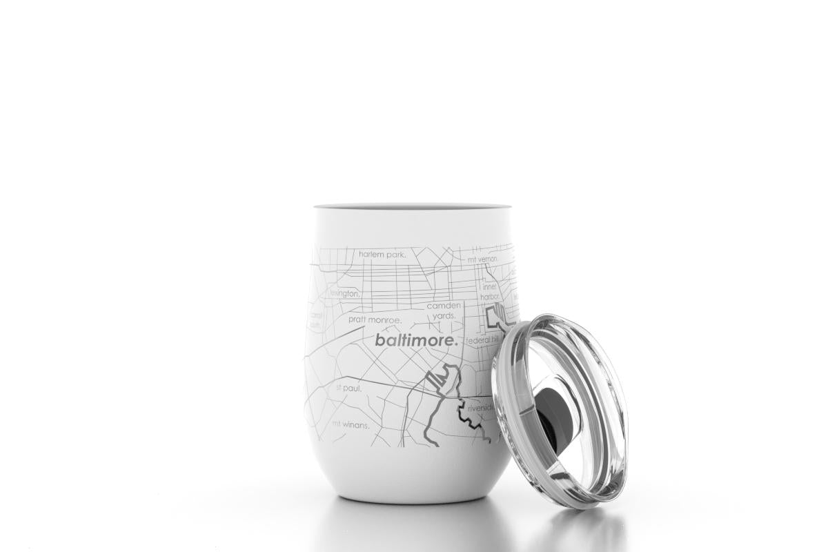 Home Town Maps Insulated Wine Tumbler