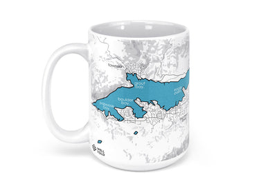Lake Map Ceramic Mug - 15oz