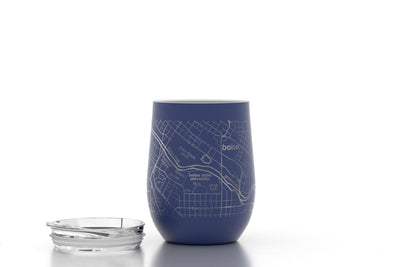 College Town Maps 12 oz Insulated Wine Tumbler