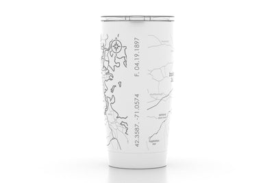Marathon Map 20 oz Insulated Pint Tumbler