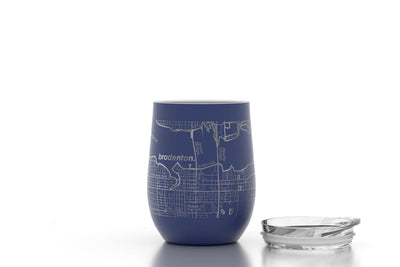 Home Town Maps 12 oz Insulated Wine Tumbler