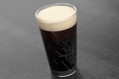 Buffalo Map Pint Glass