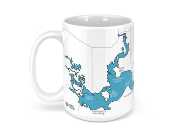 Caddo Lake Map Mug - 15oz