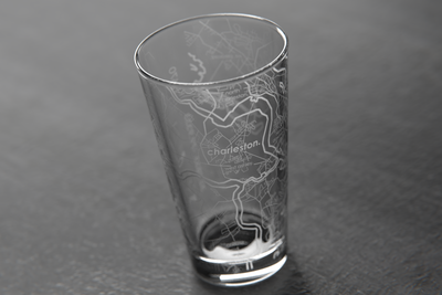 Charleston, SC Map Pint Glass