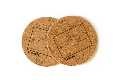 Colorado - Cork Coaster Pair