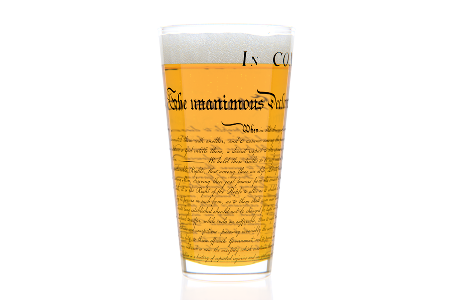 Declaration Pint Glass