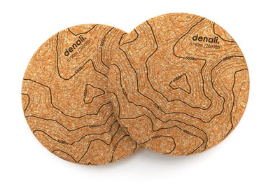 Topography Map - Cork Coaster Pair