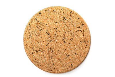 Custom Constellation Cork Coaster Pair
