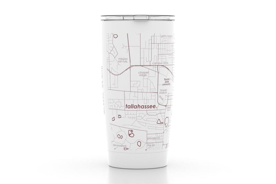 Tallahassee, FL - Florida State - Color College Town 20 oz Insulated Pint Tumbler
