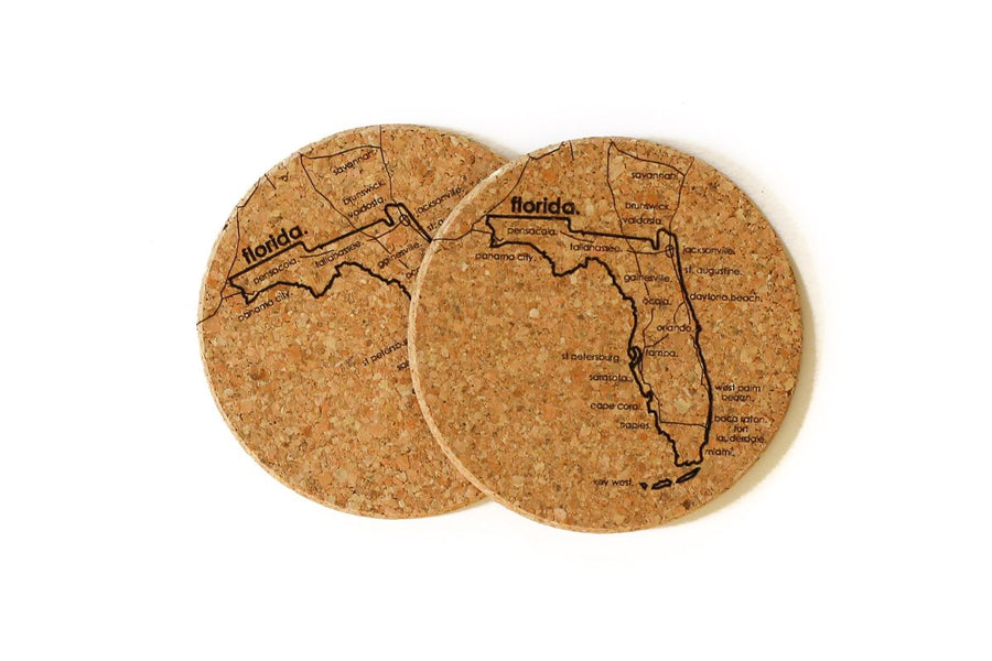 Florida - Cork Coaster Pair
