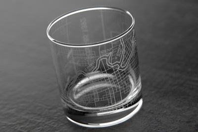 Fort Wayne IN Map Rocks Glass