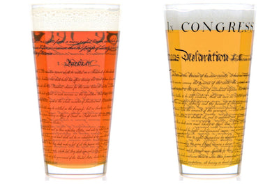 Constitution and Declaration Pint Glass Set - U.S. Constitution and Declaration of Independence