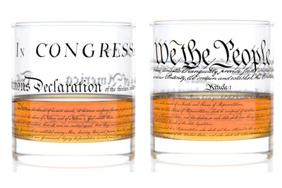 Constitution + Declaration Rocks Glass Pair - U.S. Constitution and Declaration of Independence