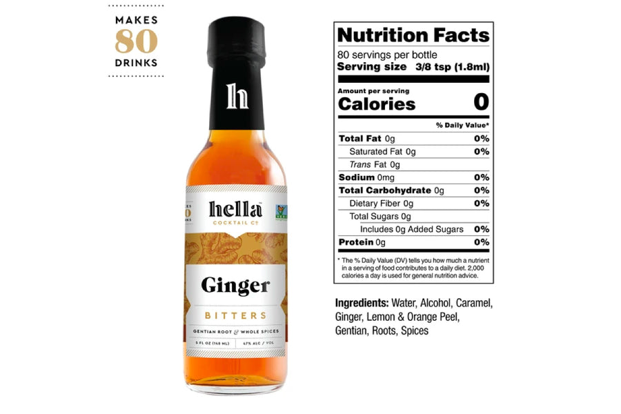 Ginger Bitters - 5oz