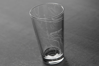 Topography Maps Pint Glass