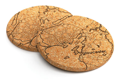 Home Town Maps Cork Coaster Pair