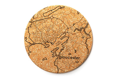 Home Town Map - Cork Coaster Pair