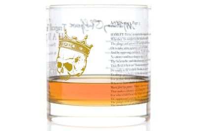 Hamlet - Shakespeare Rocks Glass