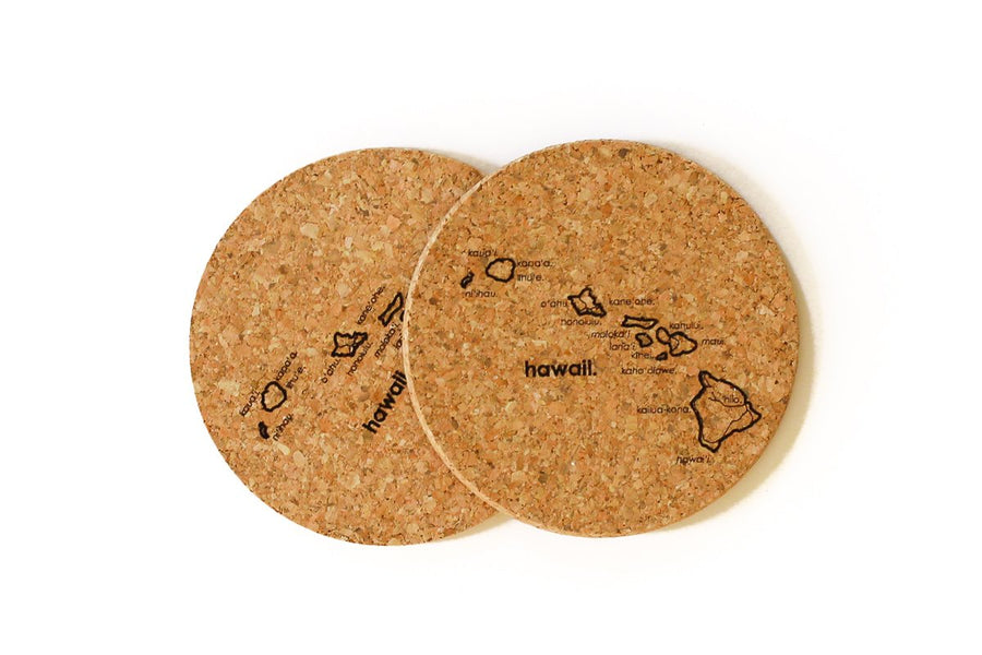 Hawaii - Cork Coaster Pair