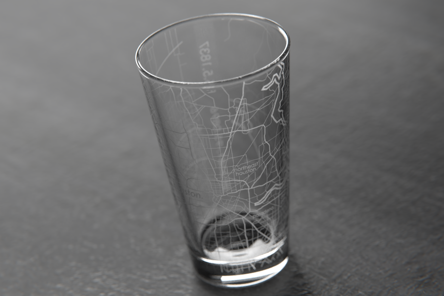 Houston Map Pint Glass