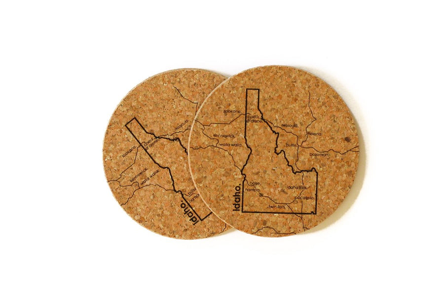Idaho - Cork Coaster Pair