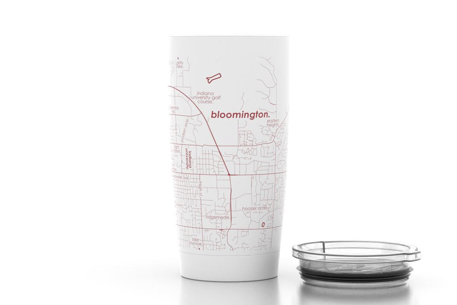 Bloomington, IN - Indiana Univ - Color College Town 20 oz Insulated Pint Tumbler