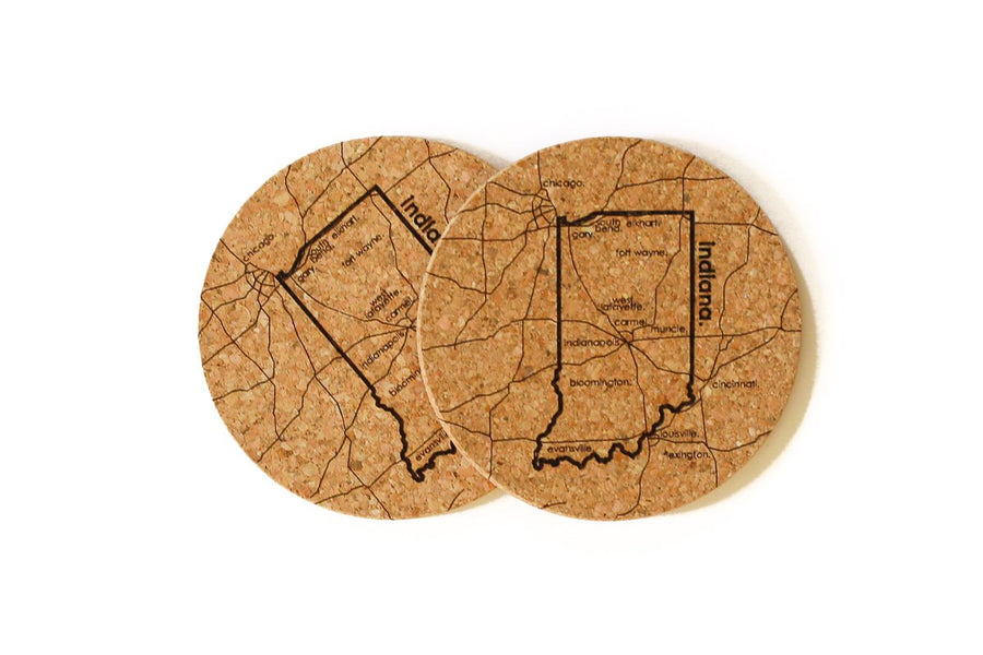 Indiana - Cork Coaster Pair