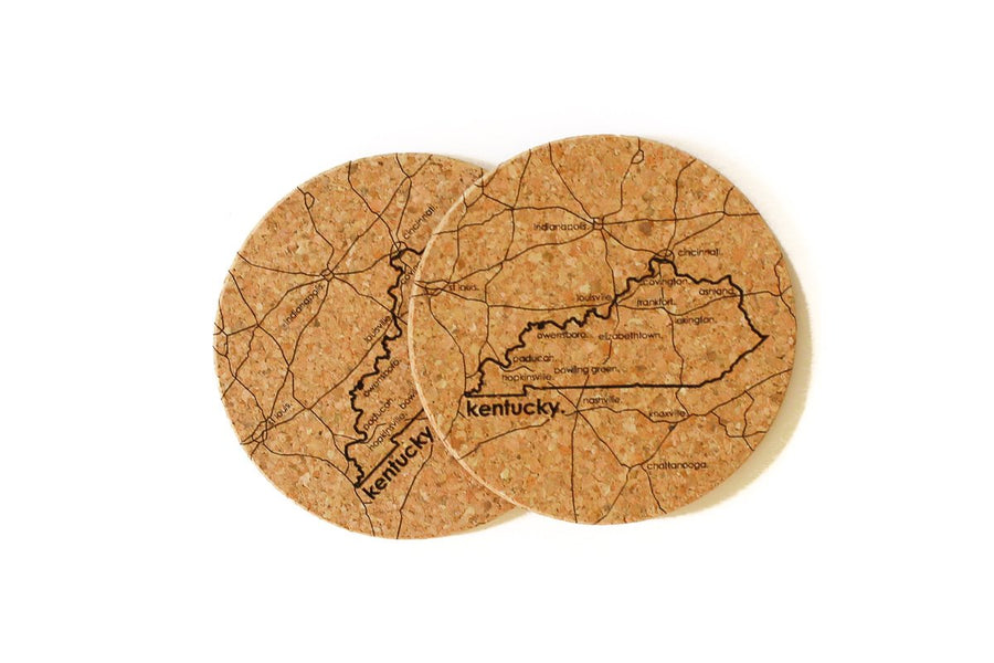 Kentucky - Cork Coaster Pair