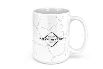 Lake of the Ozarks Map Mug - 15oz