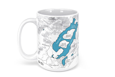 Lake Placid Map Mug - 15oz