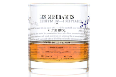 Les Miserables - Hugo Rocks Glass