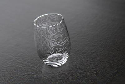 London 26.2 - Marathon Map Stemless Wine Glass