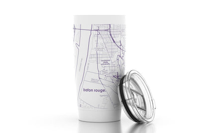 Baton Rouge, LA - LSU - Color College Town 20 oz Insulated Pint Tumbler