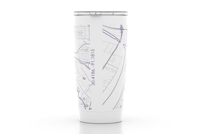 Baton Rouge, LA - LSU - Color College Town 20oz Insulated Pint Tumbler