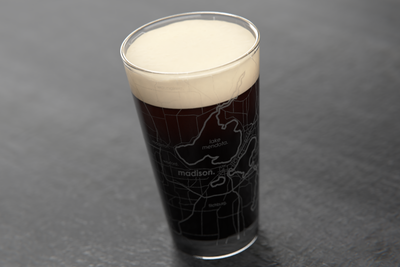 Madison Map Pint Glass