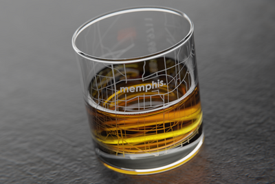 Memphis Map Rocks Glass