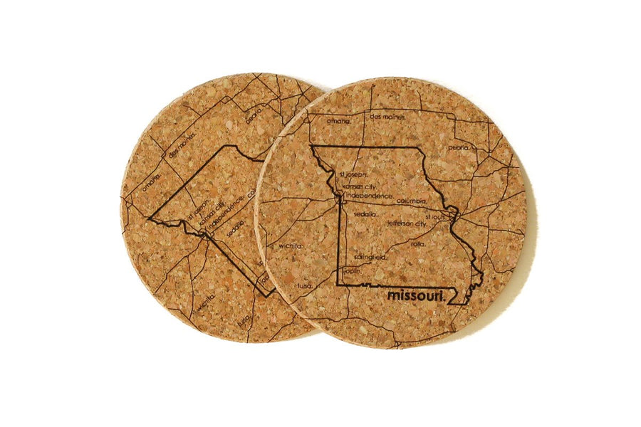 Missouri - Cork Coaster Pair