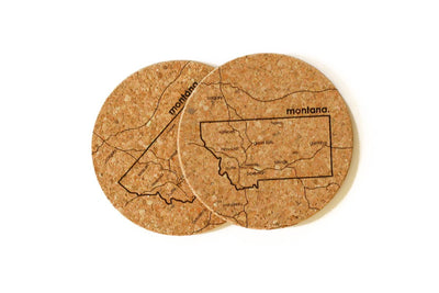 Montana - Cork Coaster Pair