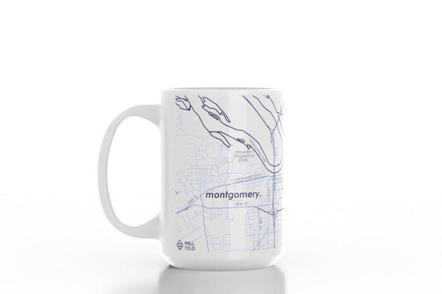 Home Town Maps 15 oz Ceramic Mug